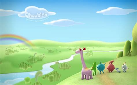 cartoons themes for windows 7 rainbow gazing cute pastel cartoon character wallpaper 3
