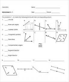 School Worksheet Template by 23 Sle High School Geometry Worksheet Templates Free