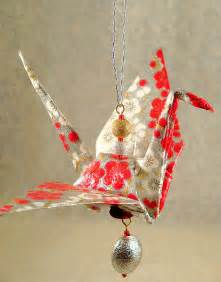 How To Make Paper Ornament - origami crane ornament paper jewelry