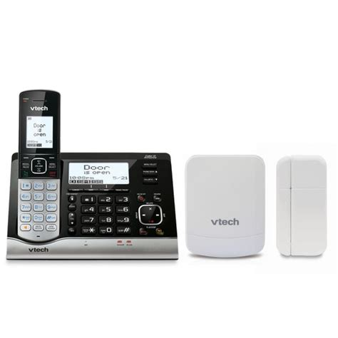 garage door open sensor wireless monitoring system with cordless telephone and
