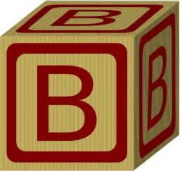 alphabet block b clip at clker vector clip