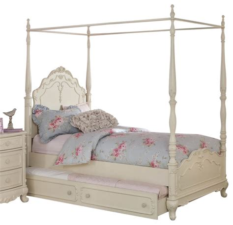 cinderella twin bed homelegance cinderella canopy poster bed in antique white