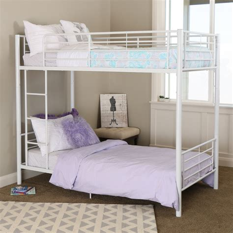 white twin bunk beds twin over twin white metal bunk bed