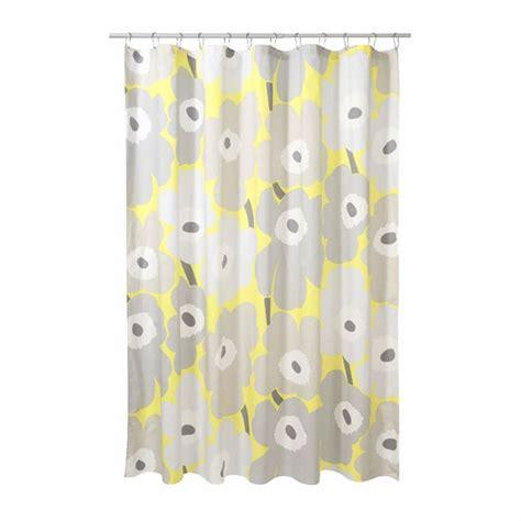 Yellow Cotton Curtains Marimekko Unikko Grey Yellow Cotton Shower Curtain Marimekko Shower Curtains