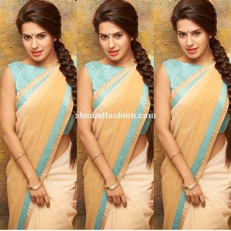 boat neck pics actress ranya in saree and boat neck blouse saree