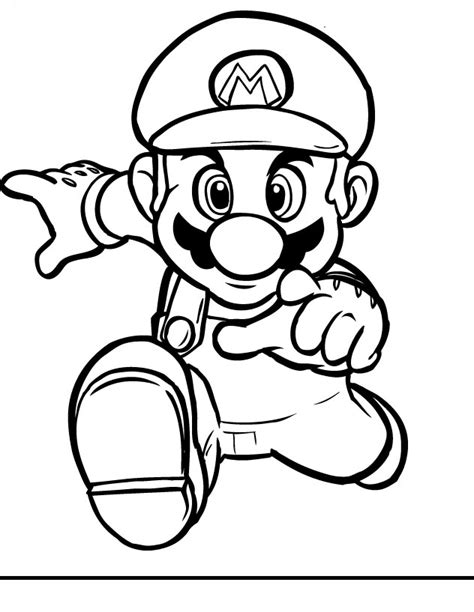 coloring pages free mario mario coloring pages black and white mario