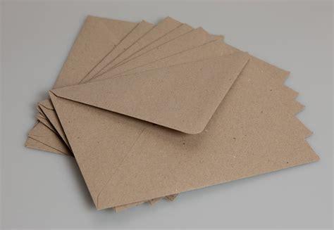 Kraft Gift Card Sleeves - 50 x dl brown kraft envelopes
