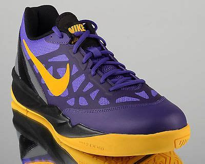 purple gold basketball shoes details about nike zoom attero ii 2 lakers mens low