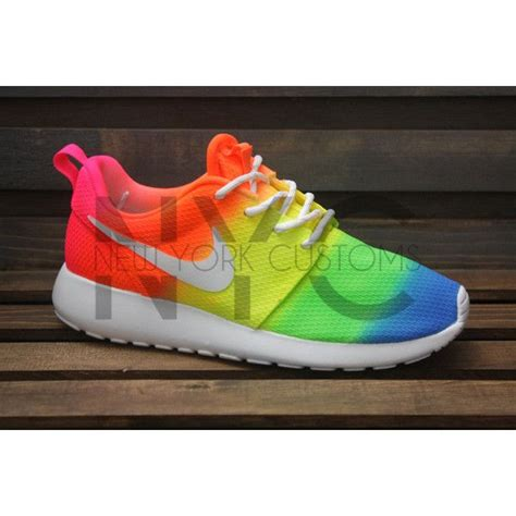 does the color run stain shoes neon vibes nike roshe one run white tie dye custom 735