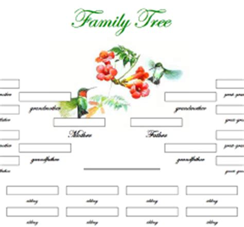 printable family tree with aunts and uncles blank family tree template kids