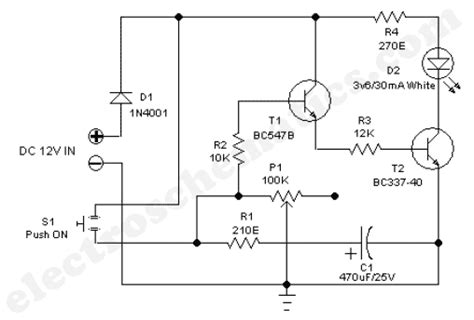 1 Minute To 10 Minutes Adjustable Timer Circuit Under
