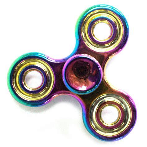 spinner rainbow roda 3 fidget spinner metal three arm classic in rainbow 171