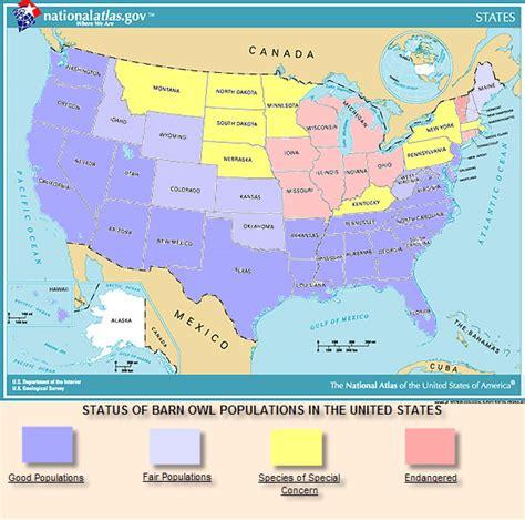 Texas Barn Owls Barn Owl Distribution By State Owl Populations Barn