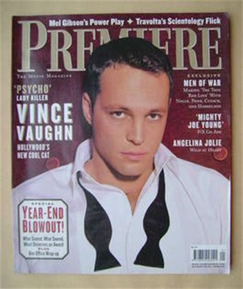Vince Vaughn Sues Newspapers by Premiere Magazine Back Issues Vintage Magazines
