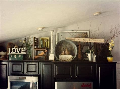 decorate above kitchen cabinet update antiques decor