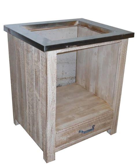 meuble four et plaque cuisson meubles cuisine pin massif