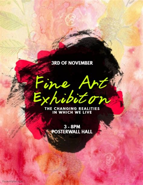 art exhibition flyer template postermywall