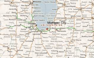 Map Of Indiana And Michigan by Michigan City Location Guide