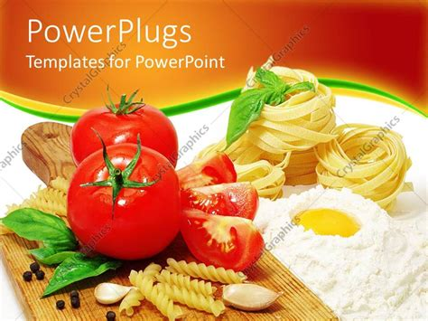 culinary powerpoint templates powerpoint template fresh tomatoes pasta cooking in
