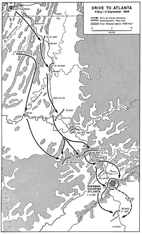 map of atlanta during civil war march to the sea general sherman atlanta caign may