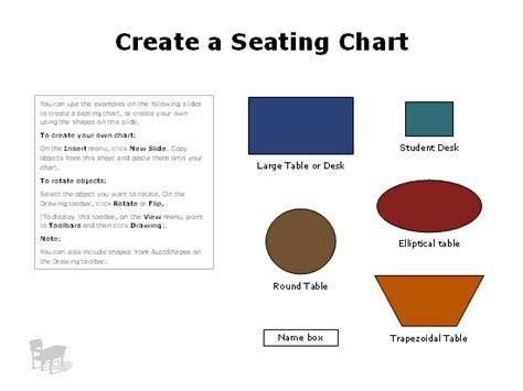 Seating Charts Create Seating Chart Template