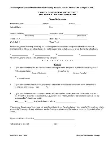 Medication Consent Form Template by Best Photos Of Sle Informed Consent To Exchange