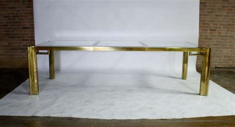 Expandable Glass Dining Room Tables by Mastercraft Expandable Brass And Glass Dining Table For
