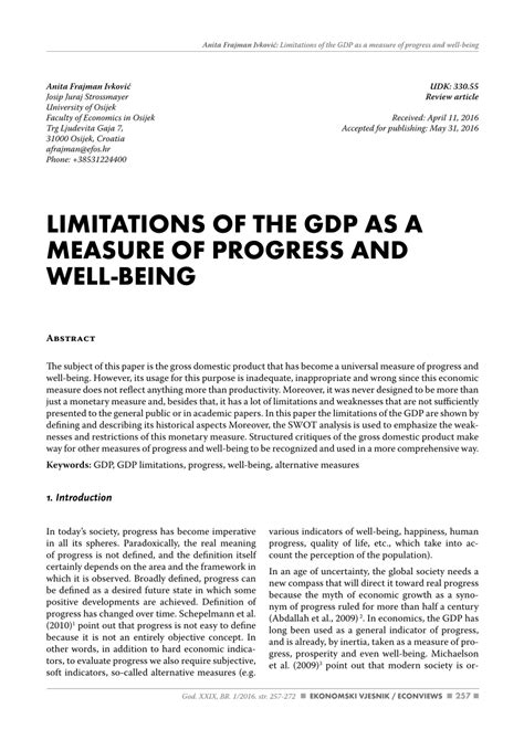 limitations of the gdp as a measure of pdf download