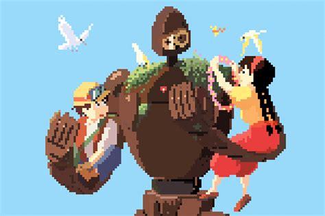 Anime 8 Bit by 1080p Studio Ghibli Anime 8bit Pixel 4 3