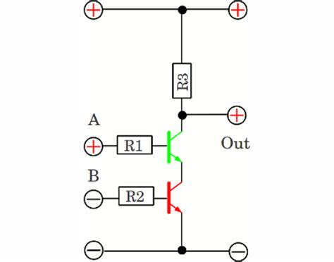 resistor transistor logic nor gate logic gates homofaciens