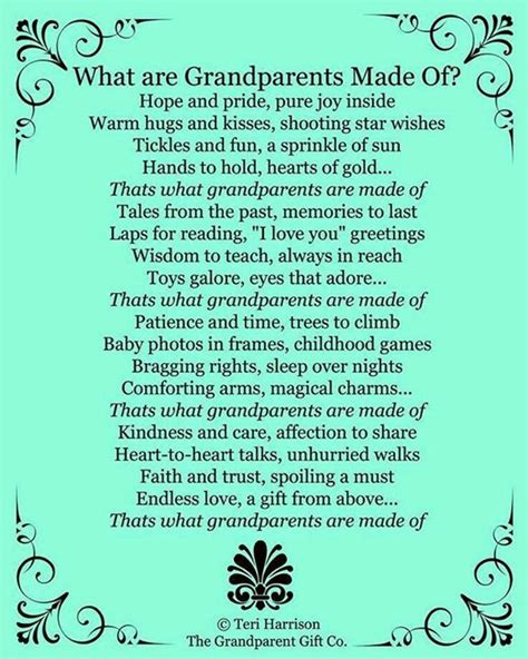 Being Grand Parents by What Are Grandparents Made Of Being A G Pa
