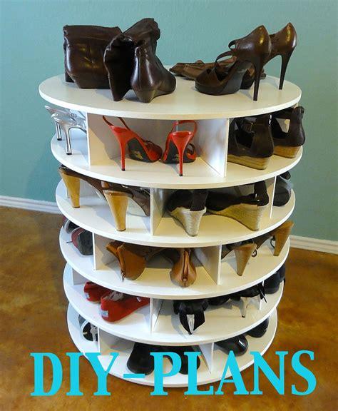 Lazy Susan Shoe Rack Plans by Diy Building For The Lazy Shoe Zen Shoes By