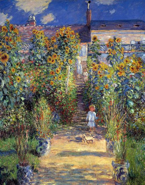 Monet In The Garden by The Artist S Garden At V 233 Theuil 1880 Claude Monet