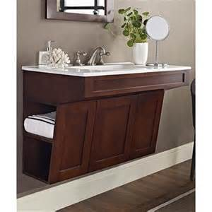 Ada Compliant Kitchen Cabinets Fairmont Designs Shaker 36 Quot Wall Mount Ada Vanity Dark