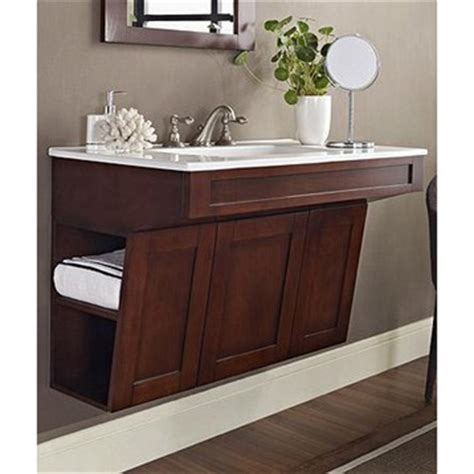 ada bathroom cabinets fairmont designs shaker 36 quot wall mount ada vanity dark
