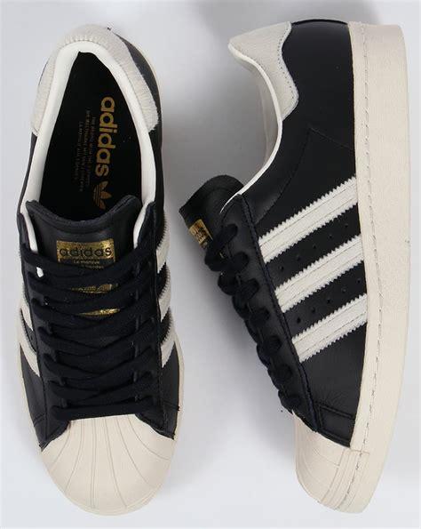 Adidas Superstar White Black Gold adidas superstar 80s trainers black white gold originals