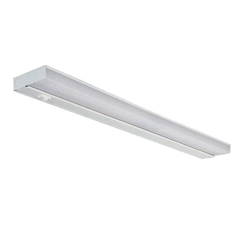 24 In White Fluorescent Under Cabinet Light Fixture Cabinet Lights Home Depot