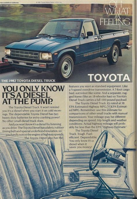 Toyota Truck With Diesel Engine Curbside Classic 1982 Toyota Diesel