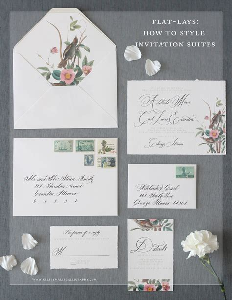 Flat Lays: How to Style Wedding Invitation Suites ? Kelsey