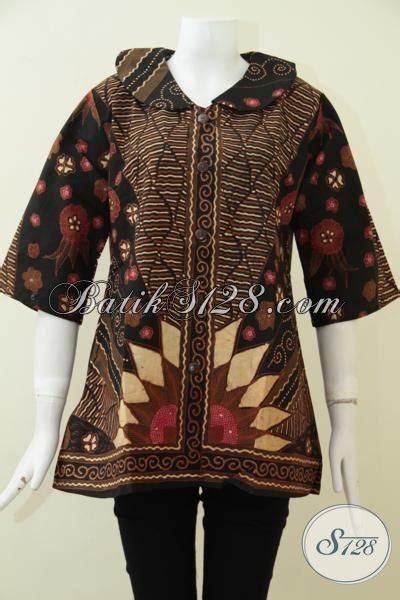 Batik Etnik Elegan blus batik klasik motif matahari elegan dan etnik pakaian