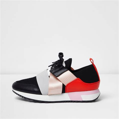 elastic runner trainers plimsolls trainers shoes