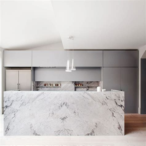 19 of the most stunning modern marble kitchens marble