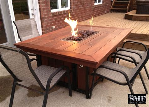 Firepit Patio Table Custom Outdoor Furniture Sunset Metal Fab Inc