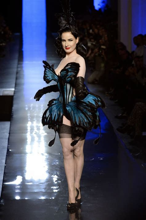 Gaultier Show A Come True For Dita by Leather Leather Leather Dita Teese Leather 2014