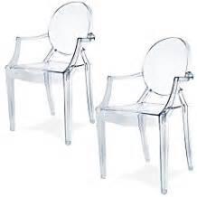 fr lot chaises transparentes