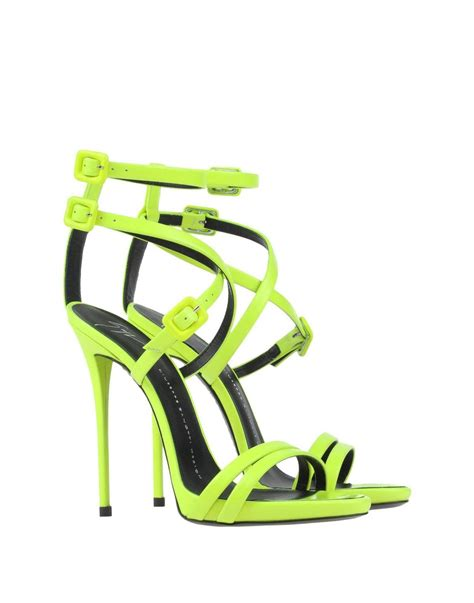lime green high heel sandals giuseppe zanotti new and sold out neon lime green high