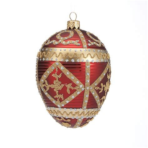 embellished egg christmas ornament burgundy gump s