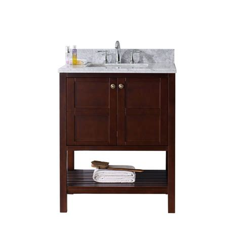 Virtue Vanity by Virtu Usa Winterfell 30 In W X 22 In D Vanity In Cherry