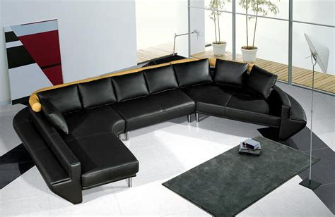 Jupiter Sectional Sofa by Divani Casa Mars Ultra Modern Black Leather Sectional Sofa Jupiter Like