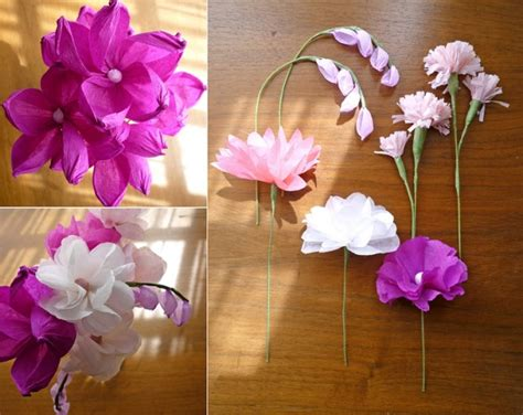 Tissue Paper Flowers Craft - 10 tissue paper beautiful craft ideas k4 craft